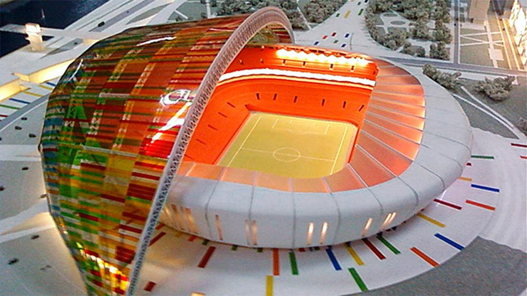 Как сделать макет стадиона